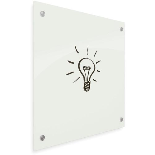 """Balt Enlighten Tempered Glass Dry-Erase Whiteboard (47.2 x 70.9"""", Gloss White)"""