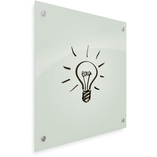 """Balt Enlighten Tempered Glass Dry-Erase Whiteboard (17.7 x 23.6"""", Frosted Pearl)"""
