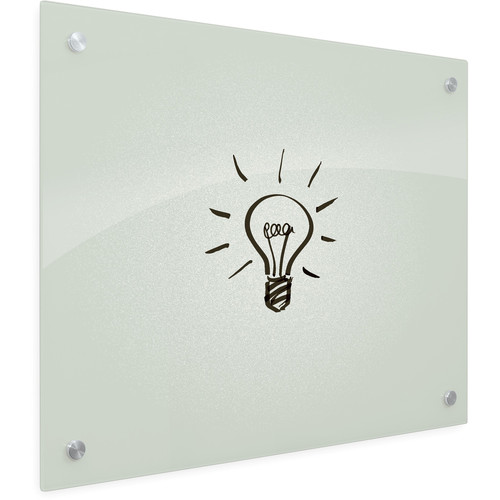 """Balt Enlighten Tempered Glass Dry-Erase Whiteboard (35.4 x 47.2"""", Frosted Pearl)"""