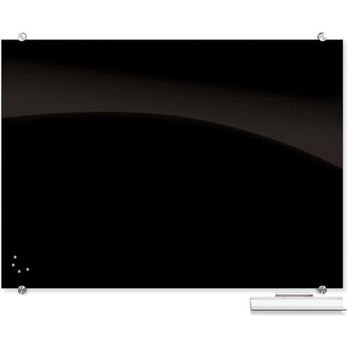 Balt Visionary Black Magnetic Glass Dry Erase Whiteboard (3 x 4')