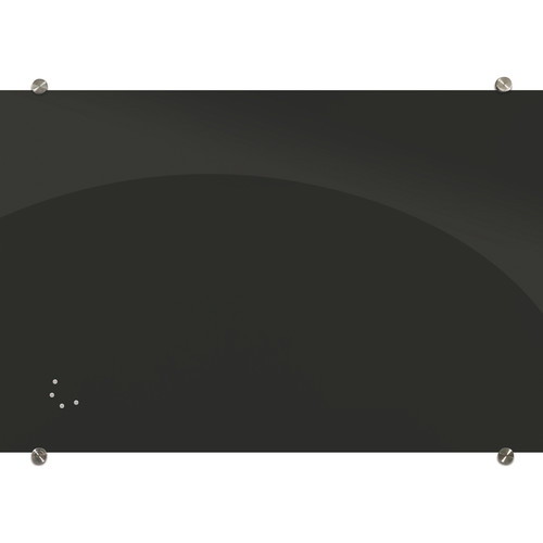 Balt Visionary Black Magnetic Glass Dry Erase Whiteboard (4 x 6')