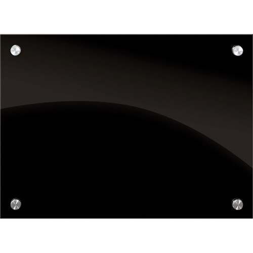 Balt Enlighten Glass Dry Erase Markerboard (2 x 1.5', Black)