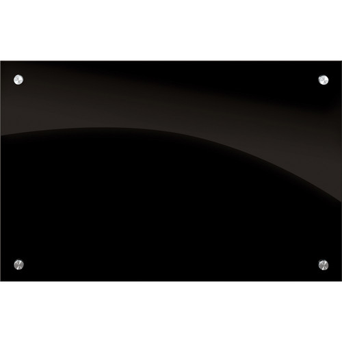 Balt Enlighten Glass Dry Erase Markerboard (3 x 2', Black)