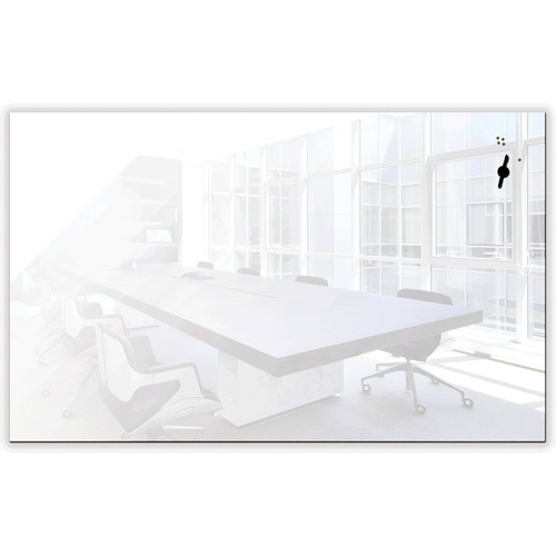 """Balt Luxe Glass 78"""" Magnetic Whiteboard with Corning Gorilla Glass"""