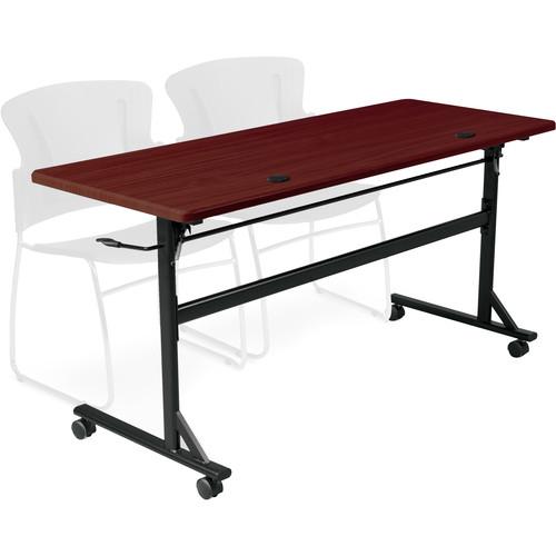 "Balt Economy Flipper Training Table (72"", Mahogany)"