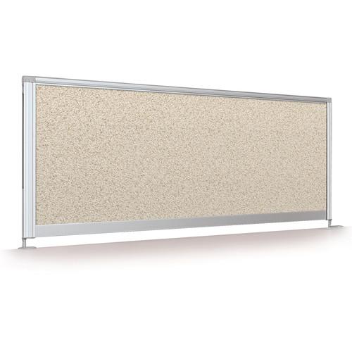 "Balt Desktop Privacy Panel (17 x 58"", Pebbles Vinyl)"