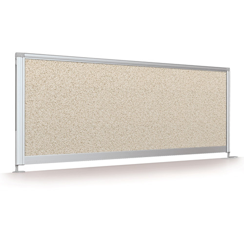 "Balt Desktop Privacy Panel (17 x 66"", Pebbles Vinyl)"