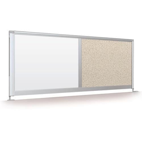 """Balt Desktop Privacy Panel (17 x 66"""", Porcelain Steel / Pebbles Vinyl)"""