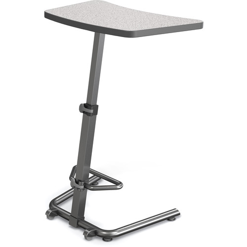 Balt Up-Rite Height-Adjustable Sit/Stand Student Desk (Gray Nebula Top)