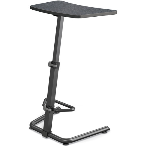 Balt Up-Rite Height Adjustable Sit/Stand Desk (Graphite Nebula Finish, Black Edge)