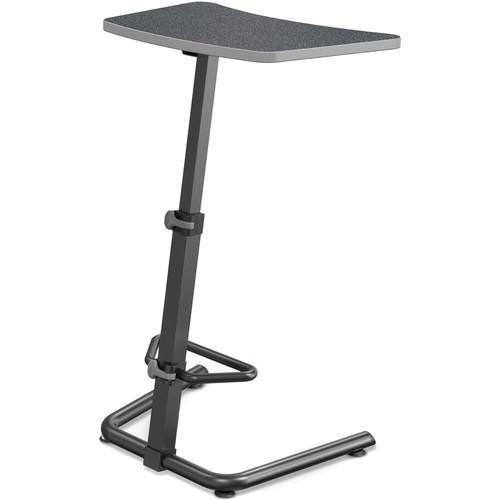 Balt Up-Rite Height Adjustable Sit/Stand Desk (Graphite Nebula Finish, Platinum Edge)
