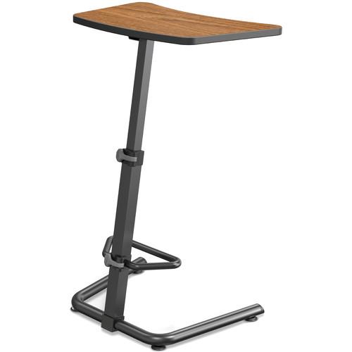 Balt Up-Rite Height Adjustable Sit/Stand Desk (Nepal Teak Finish, Black Edge)