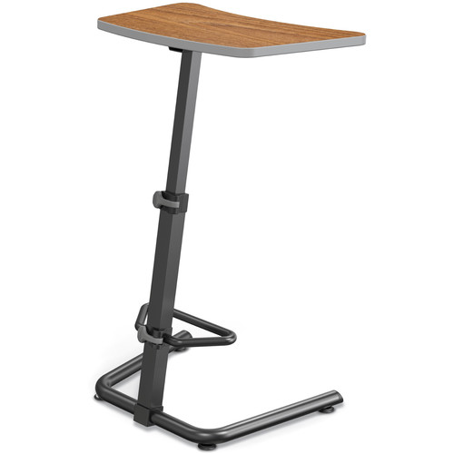Balt Up-Rite Height Adjustable Sit/Stand Desk (Nepal Teak Finish, Platinum Edge)