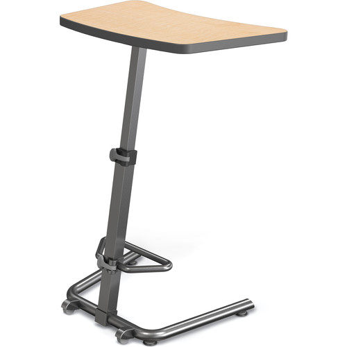 Balt Up-Rite Height-Adjustable Sit/Stand Student Desk (Fusion Maple Top)
