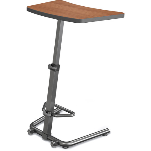 Balt Up-Rite Height-Adjustable Sit/Stand Student Desk (Amber Cherry Top)