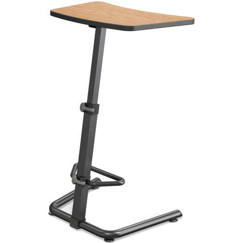 Balt Up-Rite Height Adjustable Sit/Stand Desk (Castle Oak Finish, Black Edge)