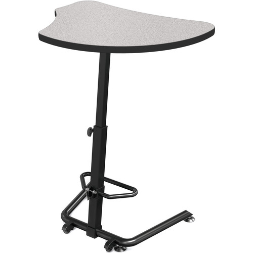 Balt Up-Rite Harmony Height Adjustable Sit/Stand Desk (Gray Nebula Finish, Black Edge)