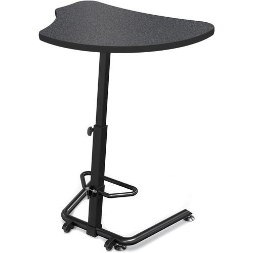 Balt Up-Rite Harmony Height Adjustable Sit/Stand Desk (Graphite Nebula Finish, Black Edge)