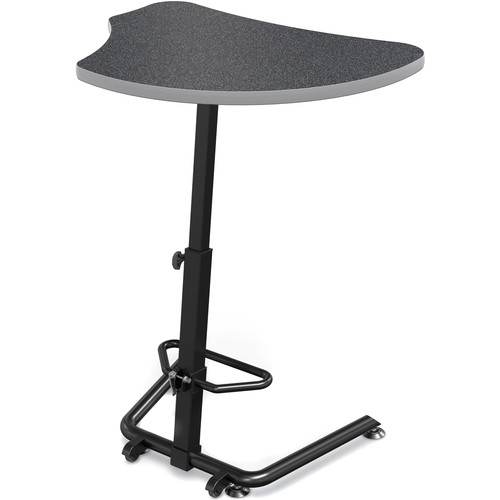 Balt Up-Rite Harmony Height Adjustable Sit/Stand Desk (Graphite Nebula Finish, Platinum Edge)