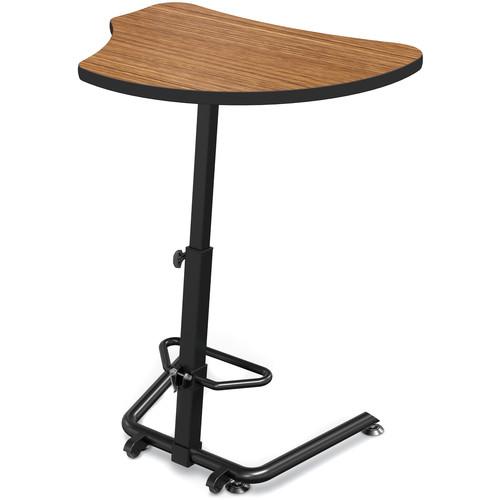 Balt Up-Rite Harmony Height Adjustable Sit/Stand Desk (Nepal Teak Finish, Black Edge)