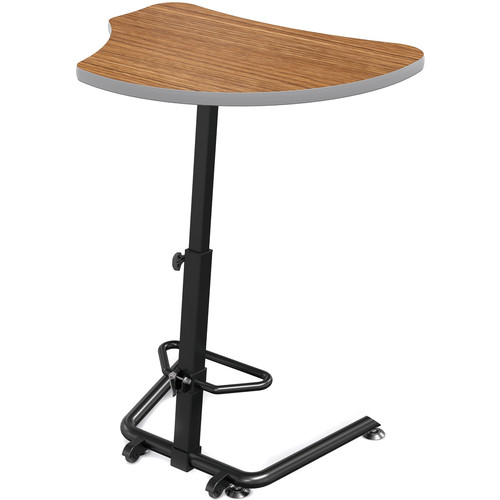 Balt Up-Rite Harmony Height Adjustable Sit/Stand Desk (Nepal Teak Finish, Platinum Edge)