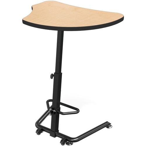Balt Up-Rite Harmony Height Adjustable Sit/Stand Desk (Fusion Maple Finish, Black Edge)