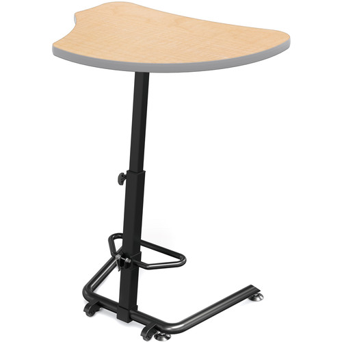 Balt Up-Rite Harmony Height Adjustable Sit/Stand Desk (Fusion Maple Finish, Platinum Edge)