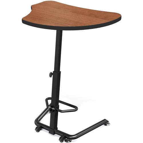Balt Up-Rite Harmony Height Adjustable Sit/Stand Desk (Amber Cherry Finish, Black Edge)