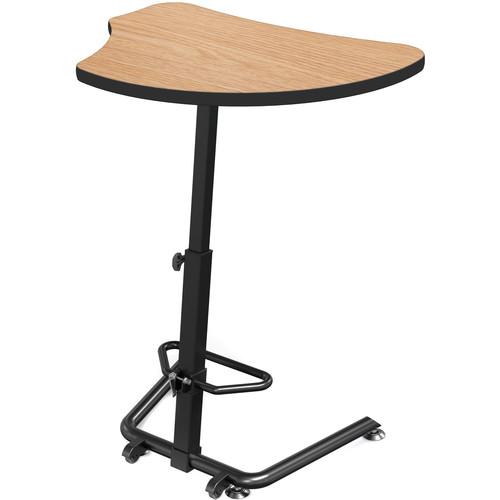 Balt Up-Rite Harmony Height Adjustable Sit/Stand Desk (Castle Oak Finish, Black Edge)