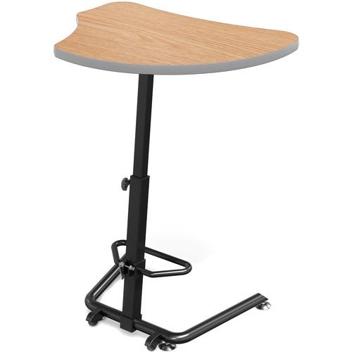 Balt Up-Rite Harmony Height Adjustable Sit/Stand Desk (Castle Oak Finish, Platinum Edge)