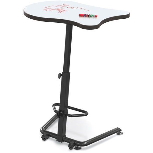 Balt Up-Rite Harmony Sit To Stand Configurable Student Desk - Markerboard Front Surface And Laminate