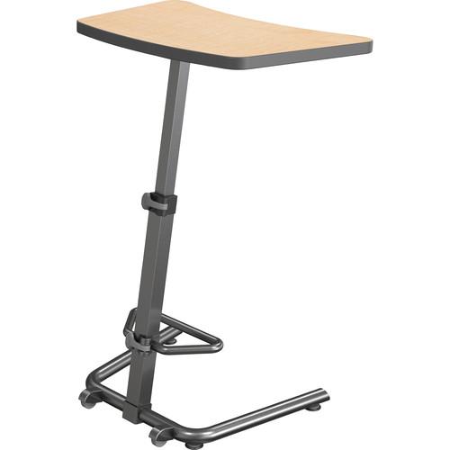 Balt Up-Rite Height Adjustable Sit/Stand Desk (Amber Cherry Finish, Platinum Edge)