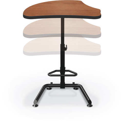 Balt Up-Rite Harmony Height Adjustable Sit/Stand Desk (Amber Cherry Finish, Platinum Edge)