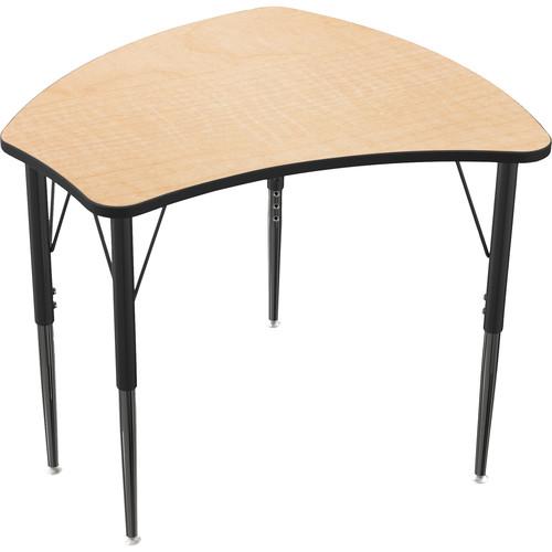 "Balt 28.8"" Economy Shapes Desk (Fusion Maple)"