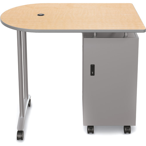 Balt Mobile Teacher Workstation (Fusion Maple)