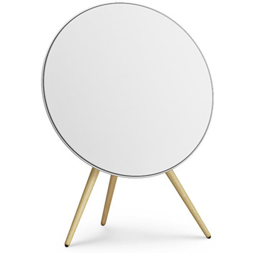 Bang & Olufsen Beoplay A9 4th Gen Wireless Speaker with Google Voice Assistant (White / Oak Legs)