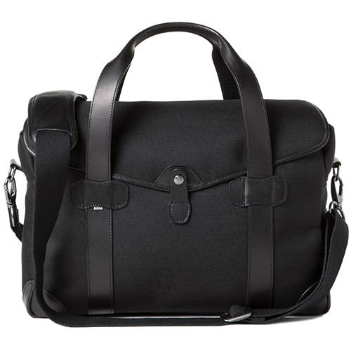 Barber Shop Medium Messenger Bob Cut Borsa Camera Bag (Cordura & Leather, Black)