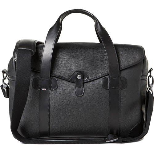 Barber Shop Medium Messenger Bob Cut Borsa Camera Bag (Grained Leather, Black)