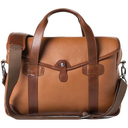 Barber Shop Medium Messenger Bob Cut Borsa Camera Bag (Grained Leather, Brown)