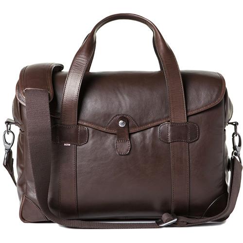 Barber Shop Medium Messenger Bob Cut Borsa Camera Bag (Smooth Leather, Dark Brown)
