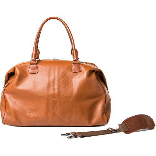 Barber Shop Cesar Cut Leather Traveler Camera Bag (Brown)