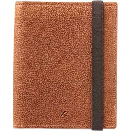 Barber Shop Fringe Leather Passport and Memory Card Holder (Brown)