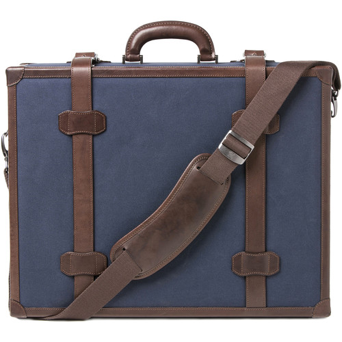 """Barber Shop Carry-On Hardcase """"Heritage"""" (Dark Brown, Canvas and Leather)"""