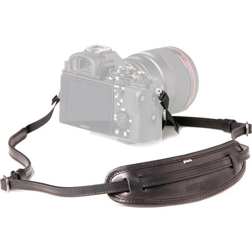 "Barber Shop Leather Camera Neckstrap ""Moustache"" (Black)"