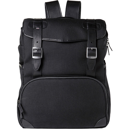 Barber Shop Mop Top Camera Backpack (Cordura & Leather, Black)