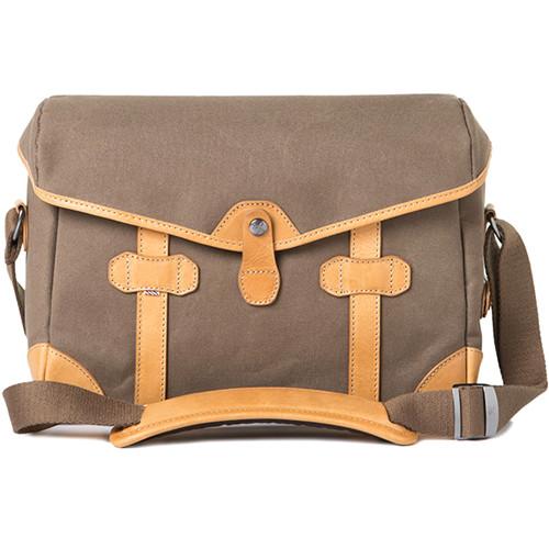 Barber Shop Small Messenger Pageboy Camera Bag (Sand Canvas & Leather)