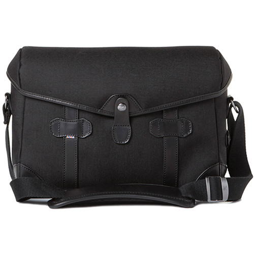 Barber Shop Small Messenger Pageboy Camera Bag (Black Cordura & Leather)