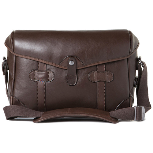 Barber Shop Small Messenger Pageboy Camera Bag (Dark Brown Smooth Leather)