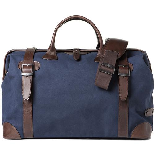 Barber Shop Quiff Doctor Camera Bag (Canvas & Leather, Blue & Dark Brown)