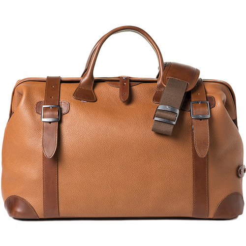Barber Shop Quiff Doctor Camera Bag (Grained Leather, Brown)
